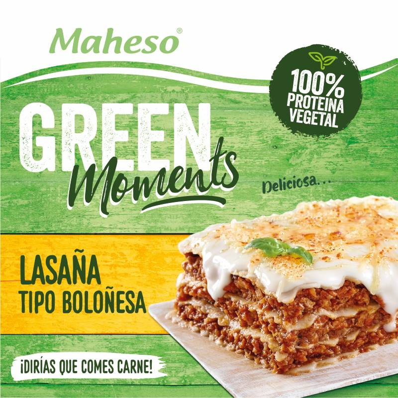 Lasaña tipo Boloñesa con proteína 100% vegetal 280gr.