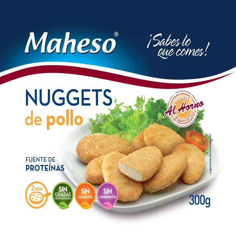 Nugget de pollo bolsa 300gr.