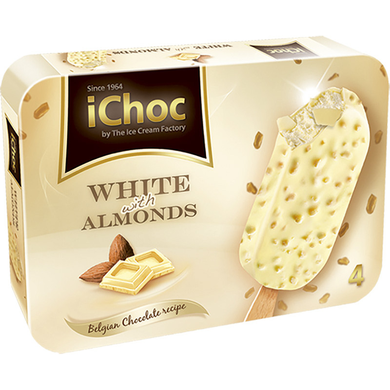 Bombón Blanco Ichoc 4unds.