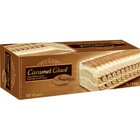 Tarta Helada Caramelo y Galleta 1L.