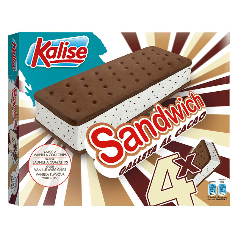 Sandwich Chips Cacao pack 4unds.