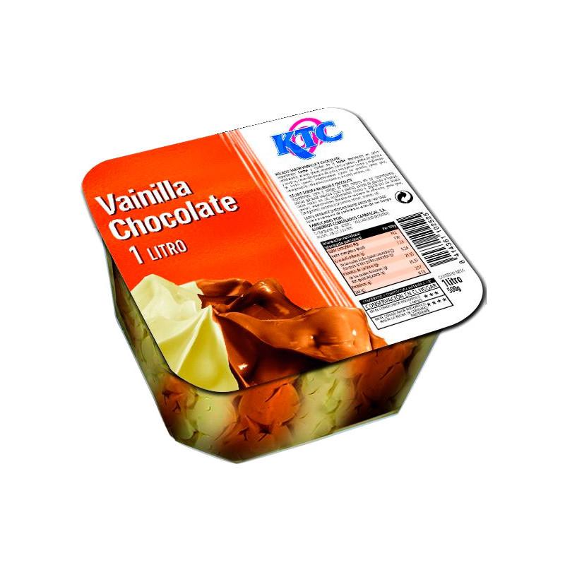 Tarrina 1L Vainilla y Chocolate