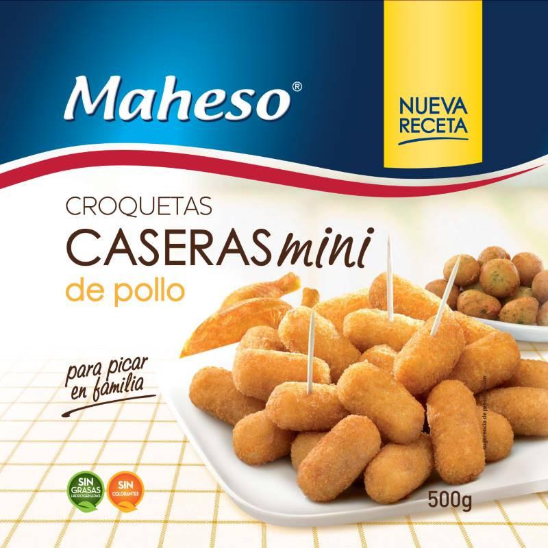 Mini croquetas caseras pollo bolsa 500gr.