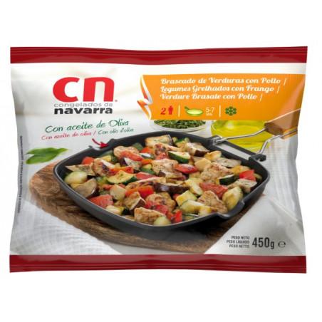 Braseado verduras pollo bolsa 450gr.
