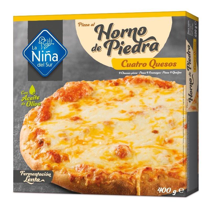 Pizza horno de piedra 4 Quesos 390gr.
