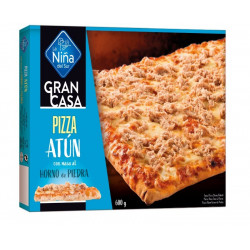 Pizza rectangular Atún 600gr.